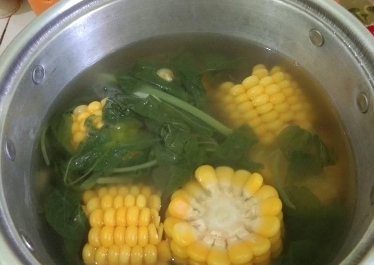 Soup Bayam Jagung
