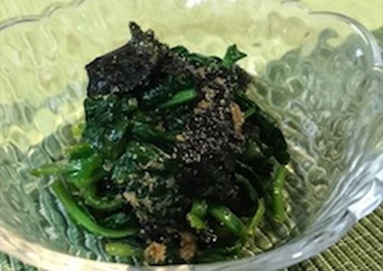Recipe of Favorite Spinach and Nori Salad