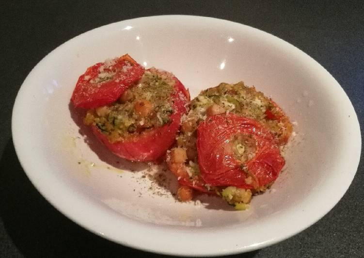 Stuffed Tomatoes (Vegan/Vegetarian/Clean Eating)