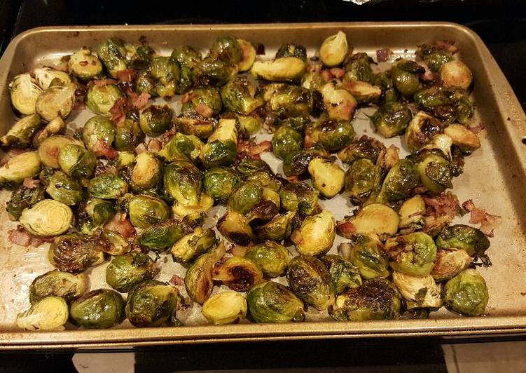 Roasted brussel sprouts w/ bacon!