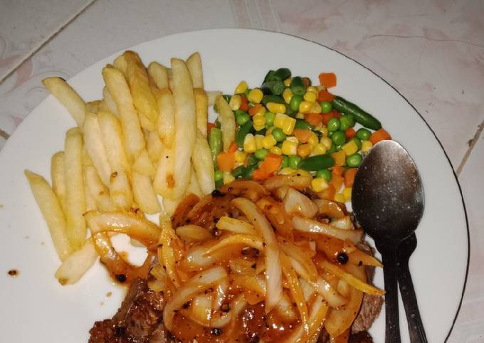 Steak Daging sauce Black Pepper