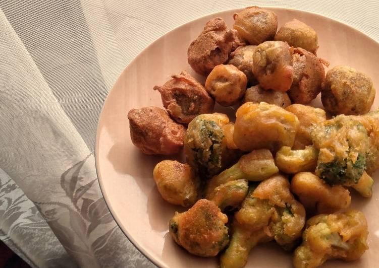 Brokoli Kembang Kol dan Bakso Krispi Pedas