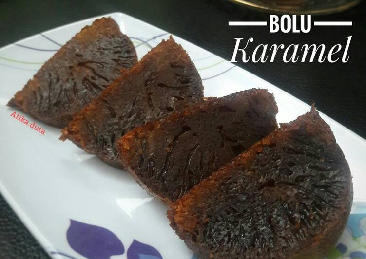 cara masak Bolu Karamel (Sarang Semut) - Sajian Dapur Bunda