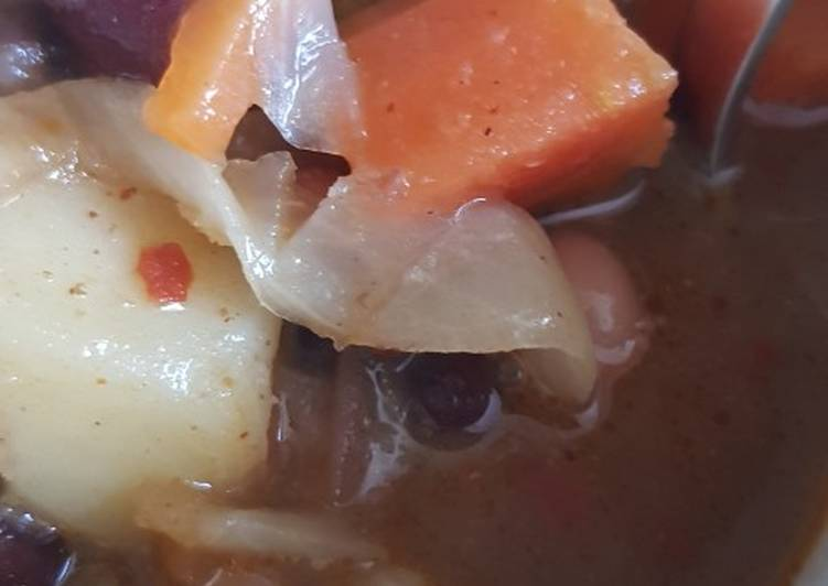 Easiest Way to Prepare Super Quick Homemade Mixed bean soup