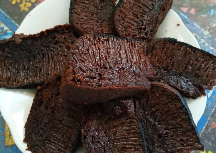 cara menyajikan Karamel sarang semut - Sajian Dapur Bunda