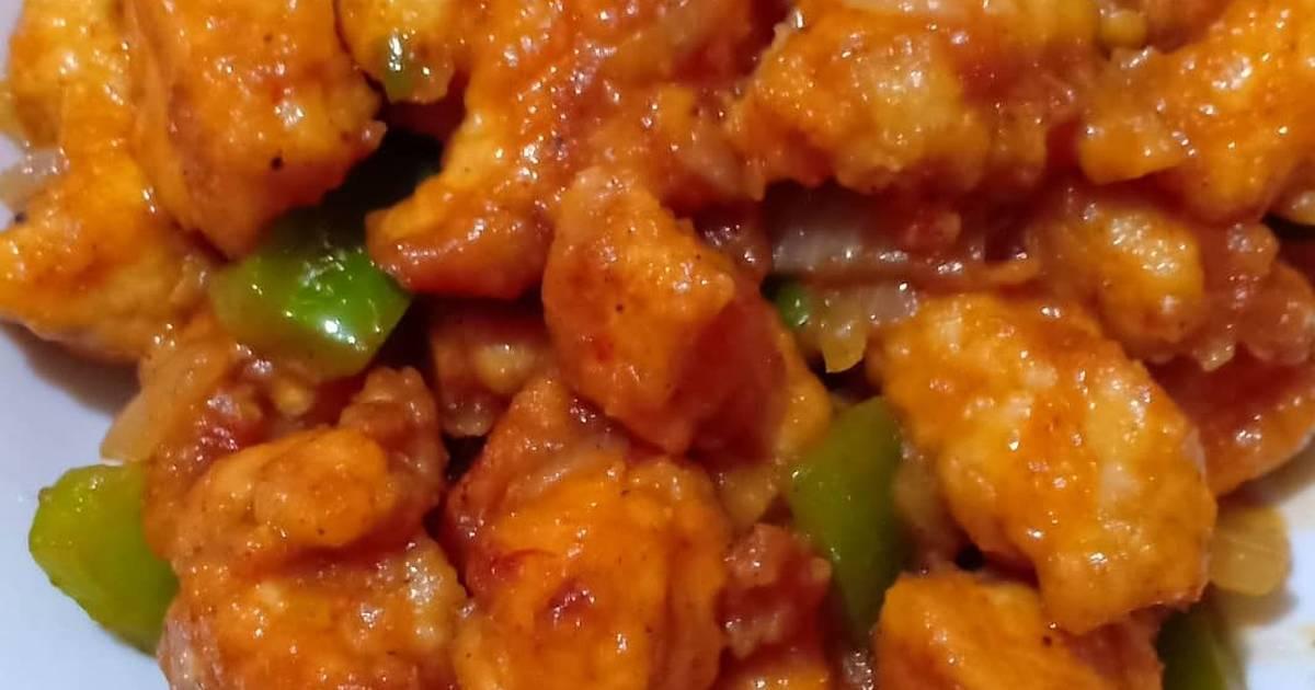 Ayam asam pedas manis ala Korea
