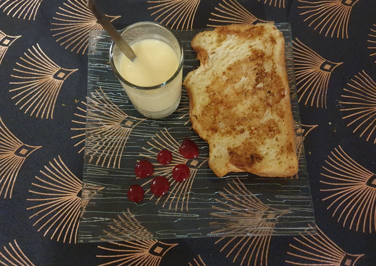 Easiest Way to Make Yummy Brioche perdue et sa crème anglaise !