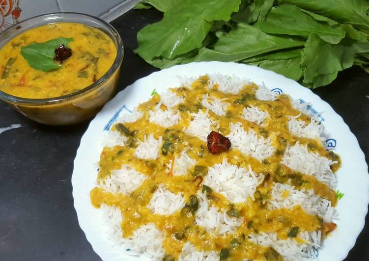 Old Fashioned Dinner Ideas Cooking Moong Dal Palak with Boiled Rice 😋