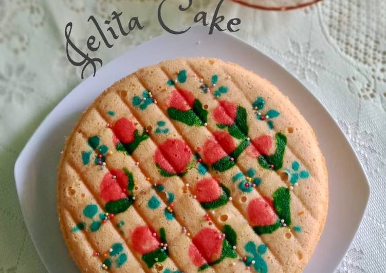 cara menyajikan Jelita Cake / Bolu Jelita (Versi Kukus) - Sajian Dapur Bunda
