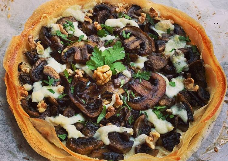 How to Prepare Yummy ☆Tarte Croustillante Champignons/Mozzarella☆