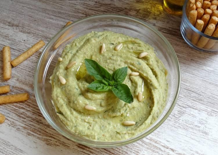 Hummus de albahaca🌱