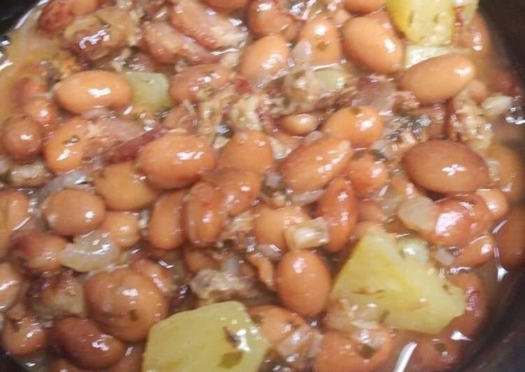 Steps to Prepare Any night of the week Pintos Pork and Pineapple