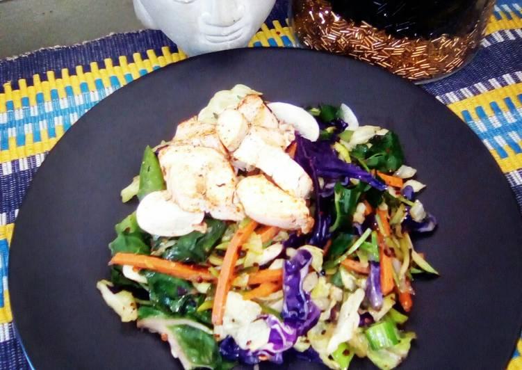 Braised Rainbow Chicken Salad