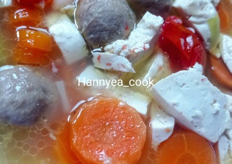 Sup tahu bakso (menu makan anak)