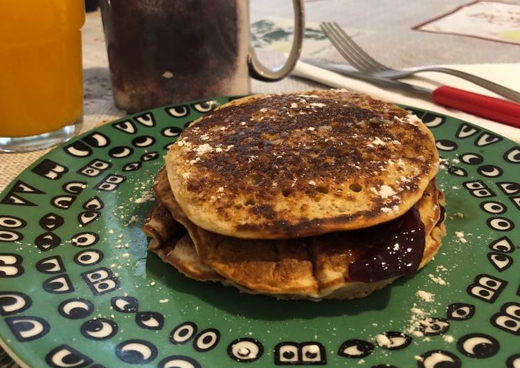 Pancakes proteici all'avena