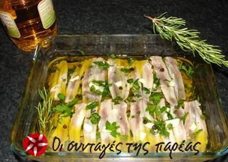 Maria's marinated gavros