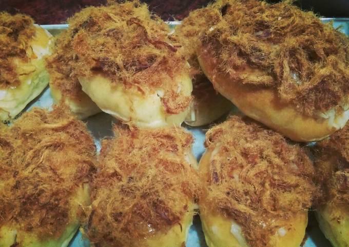 Roti Abon keju a.k.a beef floss bun cheese