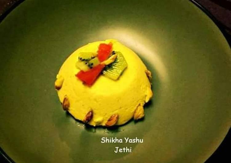 Steps to Prepare Perfect Saffron Pistachio Panna Cotta