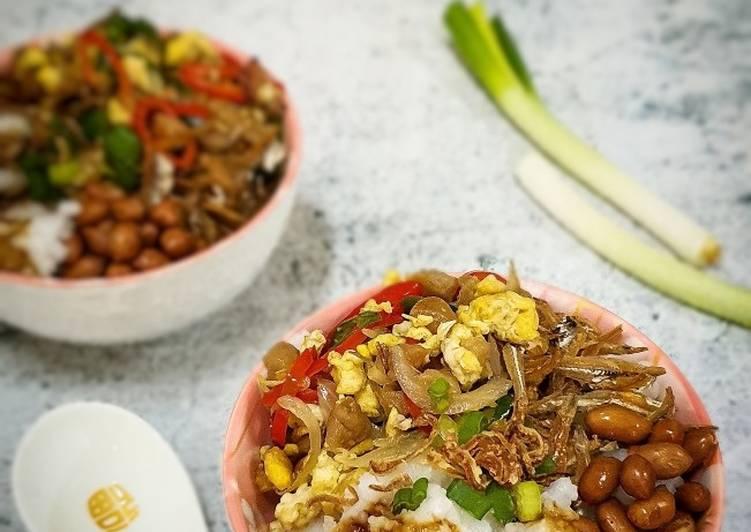 Bubur Nasi Telur Goreng Lobak Asin - resepipouler.com