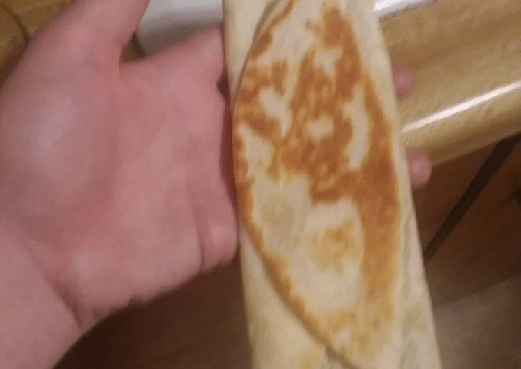 Folded cheese quesadillas