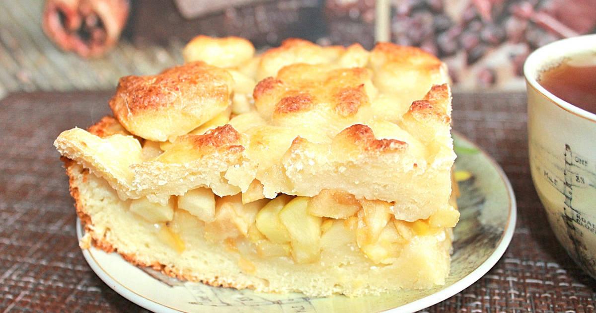 Пирог из творожного теста с яблоками - 98 пошаговых рецептов с фото