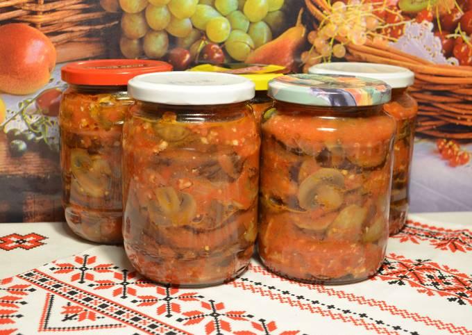 грибы с томатным соусом на зиму