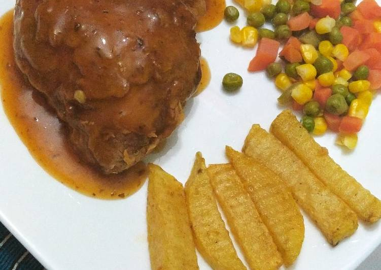 Steak ayam endes