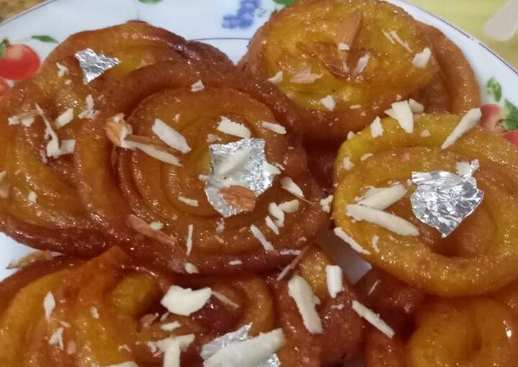 10 Minute Easiest Way to Prepare Quick Jalebi
