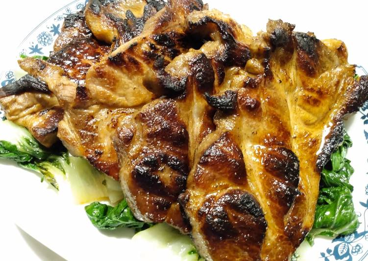 Cola marinated pork steaks