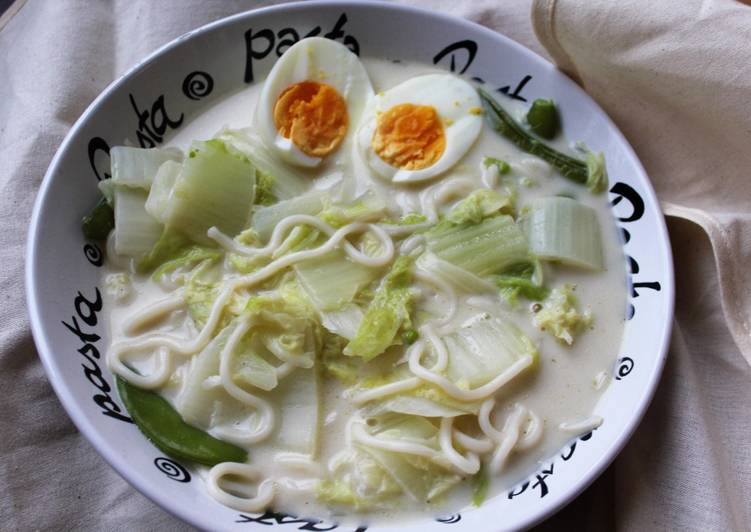 Coconut Soup with Sugar Snaps and Cabbage