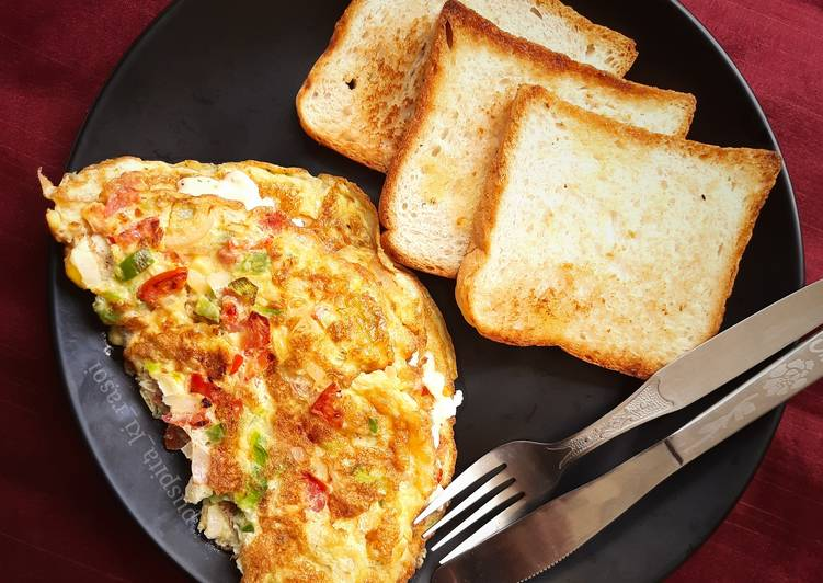 Recipe of Perfect Italian cheese and herbs omelette