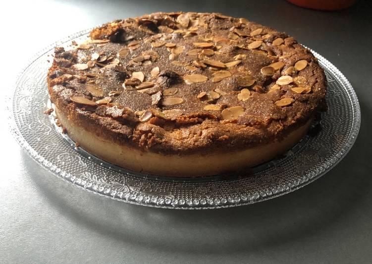 recette Tarte amandine à la pommes et à la cannelle délicieux