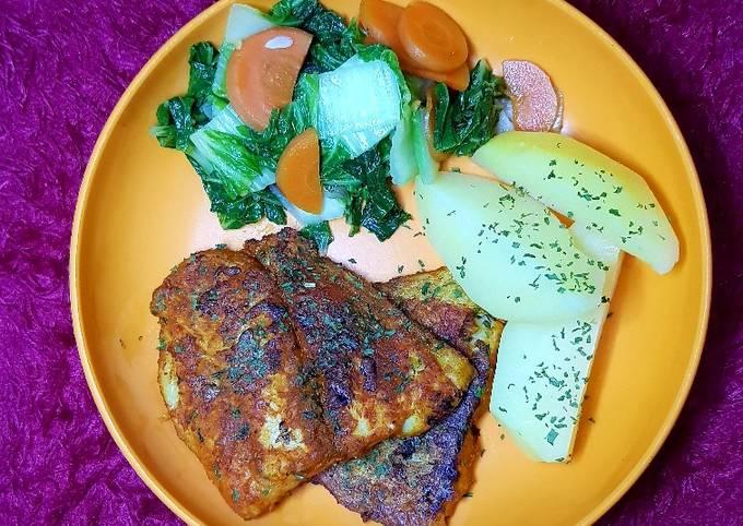 Bagaimana Membuat Menu diet : grilled pan fillet ikan patin (tanpa minyak) yang Enak