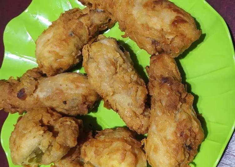 Ayam goreng tepung dan buncis tepung
