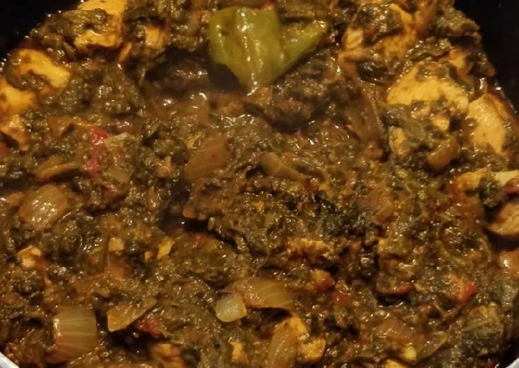 Chicken Palak (chicken spinach curry)