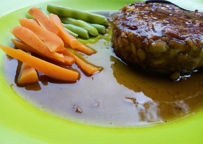 Steak Tempe ala Tradisional