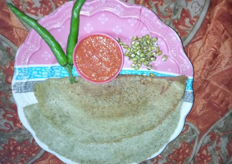 Step-by-Step Guide to Make Favorite Sprouted moong dal dosa