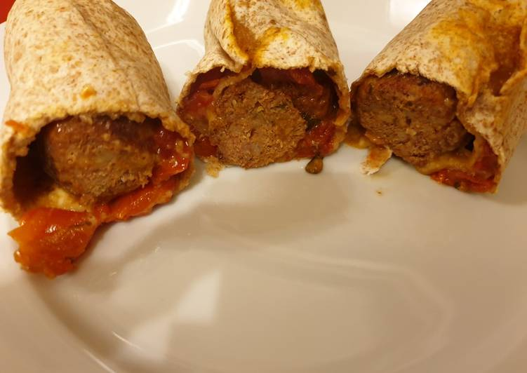 Turkey Meatball Wraps