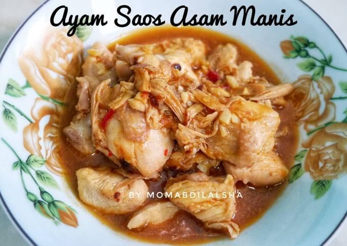 Ayam Saos Asam Manis (no minyak, no gula)