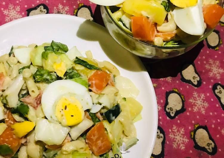 Easiest Way to Make Tasty Potato X Macaroni Salad