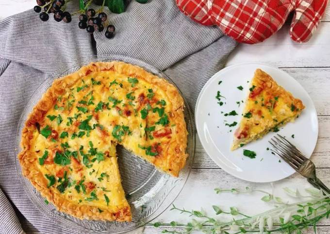 Recipe of Award-winning Delicious Quiche with Shiitake Powder