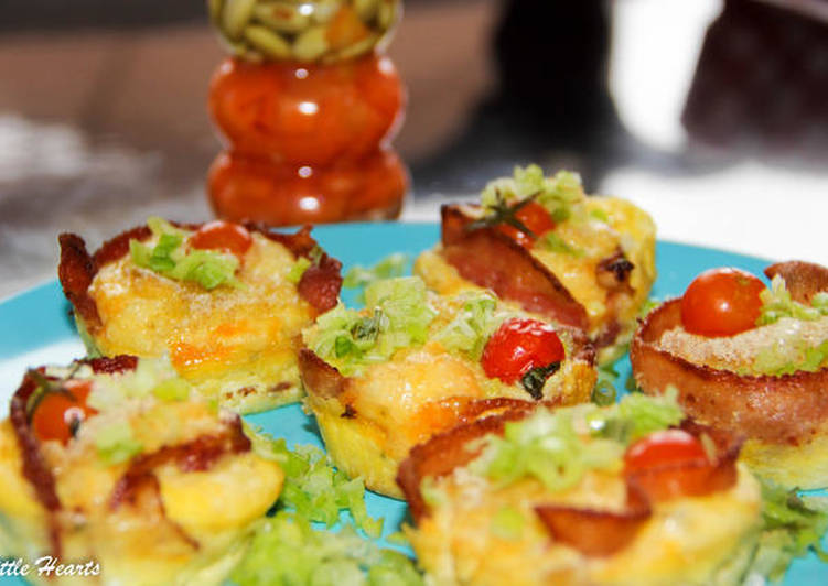 Steps to Make Homemade Bacon & Eggs Muffin Cups