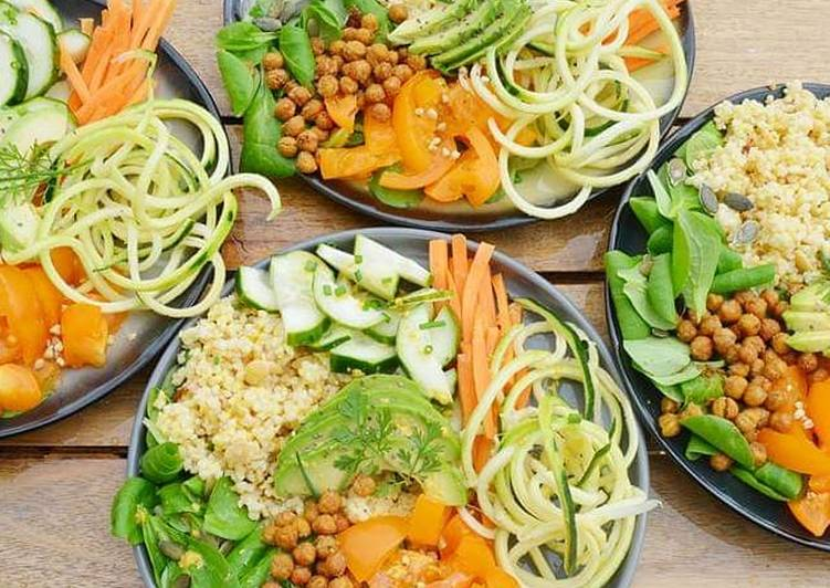 Recipe: Delicious Buddha Bowl en bicolore