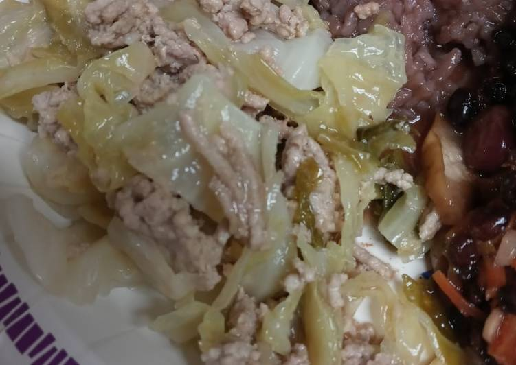 5 Minute How to Prepare Quick Cabbage and Ground Pork