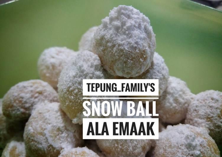 Snow ball baking pan ala emaak😄😄😄