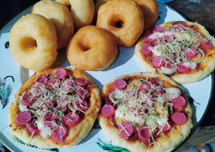 Resep Donat Kentang Pizza Tanpa Ulen Satu Adonan 2 Macam Kue Sempurna Kreasi Masakan