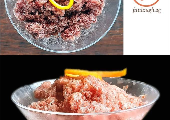 Recipe of Award-winning Chocolate Wine Granita