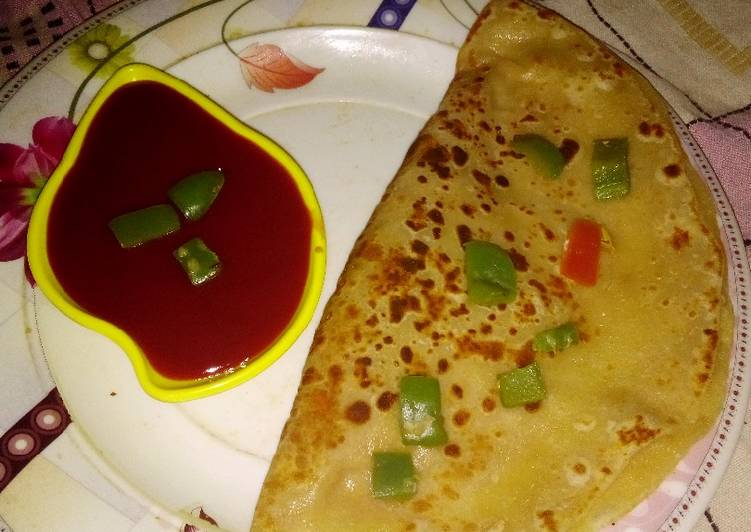 10 Minute How to Prepare Favorite Pizza paratha