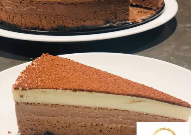 Triple Chocolate Mousse Cake - Bakey Beha