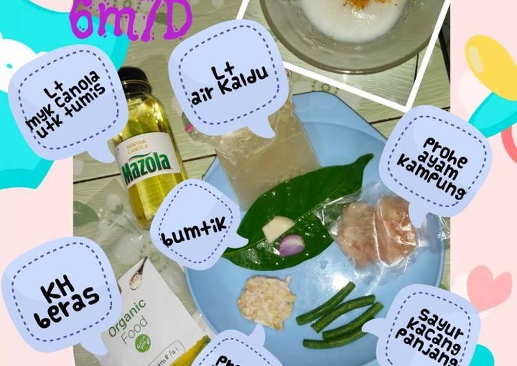 MPASI 6m7d tepung beras putih organik